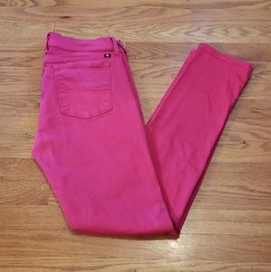 Lucky Brand CHARLIE Skinny HOT PINK jeans 12 reg